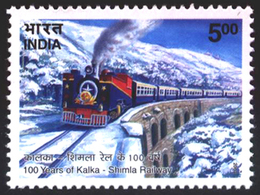 INDIA STAMPS, 09 NOV 2003, KALKA-SIMLA RAILWAY, TRAIN, MNH - India