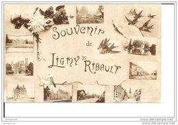 LIGNY LE RIBAULT SOUVENIR MULTIVUE CPA BON ETAT - France