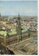 HAMBURG RATHAUS  Luftbild GEL. 1969 Sondermarke Olympische Spiele 1968 - Allemagne