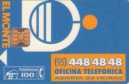 TARJETA TELEFONICA DE ESPAÑA USADA. 12.94 - TIRADA 33100 (433). EL MONTE. - Espagne