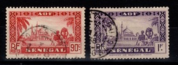 Senegal YV 128 & 129, Les Deux Moyennes Valeurs De La Serie, Oblitérés Cote 5,40 Euros - Oblitérés