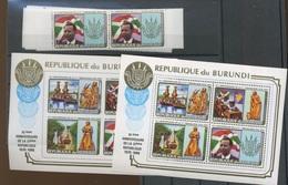 Non émis  De 1986     2 Séries Dentelées Et Paire De Blocs   Cote 280,-Euros - Burundi