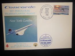 Themes Concorde , Sst Inaugural Transatlantic Flight 1977 - Concorde