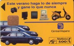 TARJETA TELEFONICA DE ESPAÑA USADA. 06.94 - TIRADA 14000 (434). CENTRAL HISPANO - Spain