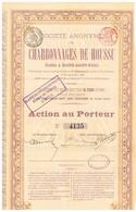 Action Ancienne - Sté Anonyme Des Charbonnages De HOUSSU - Titre De 1886 - Mines