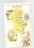 Chromo Bon Point De Huile SALVER Département Du Rhône - Autres