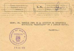 27644. Carta Franquicia MAHON (Baleares) 1976. Regimiento Infanteria  46. Militar - 1931-Hoy: 2ª República - ... Juan Carlos I