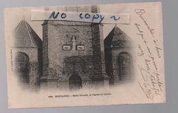 BRETAGNE..SAINT CORNELY A L'EGLISE DE CARNAC..DOS TAMPON MILITAIRE DE 1914 (s2) - Carnac