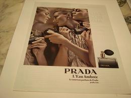 PUBLICITE AFFICHE PARFUM EAU AMBREE DE PRADA - Perfume & Beauty