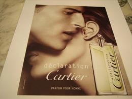 PUBLICITE AFFICHE PARFUM DECLARATION DE CARTIER - Perfume & Beauty