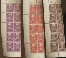 10 Séries Complètes EUROPA 1957 ** Sans Charnière **  Postfrich  Cote Plus De 1900 Euros - 1957