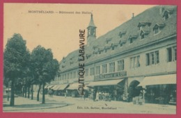 25 - MONTBELIARD---Batiment Des Halles--Café-commerces--animé - Montbéliard