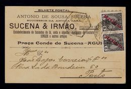 SINGER Machines Algodon July1911 SUCENA & IRMÃO Publicitary Postcard AGUEDA Sp5072 - Covers & Documents