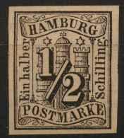Hambourg (1859) N 1 Sans Gomme - Hamburg