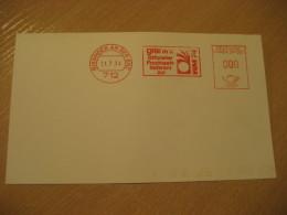 BISSINGEN AN DER ENZ 1974 WM World Cup Football Futbol Soccer Meter Mail Cancel Card GERMANY - Coppa Del Mondo