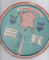"""Carte De France à Système/""""La Roue De La France """"/Tous Les Départements/ Editions Océan/Paris/Vers 1950     VPN128 - Geographische Kaarten"""