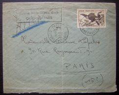 GUYANE 1949: N°214 Sur Lettre Premier Vol CAYENNE-PARIS Première Liaison Directe Cayenne Paris - Guyane Française (1886-1949)