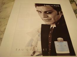 PUBLICITE AFFICHE PARFUM EAU DE SPORT EDEN PARK - Perfume & Beauty