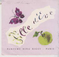 Publicité Parfums NINA RICCI  Paris Fille D'Eve - Publicidad