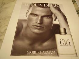 PUBLICITE AFFICHE PARFUM ACQUA DI GIO DE GIORGIO ARMANI - Perfume & Beauty
