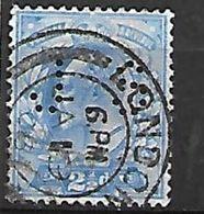 PER325 - GRAN BRETAGNA - PERFIN 110 - 2 1/2 P. - CATALOGO UNIFICATO - Usati