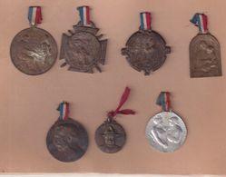 FRANCE : 7  MEDAILLES .GUERRE 1914/18 . - France