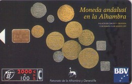 TARJETA TELEFONICA DE ESPAÑA USADA. 05.97 (444). MONEDA ANDALUSÍ EN LA ALHAMBRA. - Spain