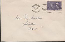 3255  Carta Sabattus Maine 1963 - United States