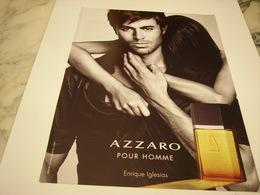PUBLICITE AFFICHE PARFUM  AZZARO AVEC ENRIQUE IGLESIAS - Perfume & Beauty