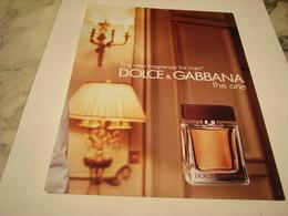 PUBLICITE AFFICHE PARFUM THE ONE DE DOLCE&GABBANA - Perfume & Beauty