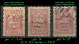 TURKEY , EARLY OTTOMAN SPECIALIZED FOR SPECIALIST, SEE...Mi. Nr. 752 - 3 Zähnungen  - - 1920-21 Anatolie