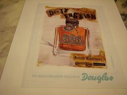 PUBLICITE AFFICHE PARFUM DIRTY ENGLISH - Perfume & Beauty