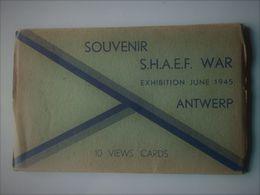 War Exhibition June 1945 Antwerp 10 Views Cards V1 / V2 / Spitfire / Submarine V3 .... - Guerre 1939-45