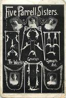 Themes Div - Ref W183- Spectacle - Cirque - Gymnastique -five Parrell Sisters - Correspondance Au Verso De Parrell  - - Zirkus