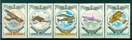 URSS 1976 - Y & T N. 4308/12 - Histoire De L'aviation Russe - 1923-1991 USSR