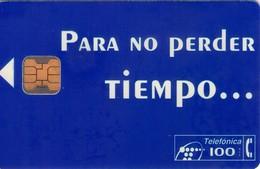 TARJETA TELEFONICA DE ESPAÑA USADA. 12.94 - TIRADA 23000 (447). PARA NO PERDER EL TIEMPO. - Spain