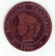 Cérès . 5 Centimes 1896 A - C. 5 Centimes