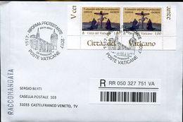 31097 Vaticano,fdc Registered 2017 500 Jahre Protent.reformation(martin Luther+melanchton )wittenberg,christus Am Kreuz, - FDC