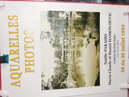 LUC SUR MER NOELLE PARADIS MARIE CLAUDE ET DANIEL HAMON DEVIC GALERIE DU PETIT ENFER AQUARELLES PHOTOS JUILLET 1993 - Posters