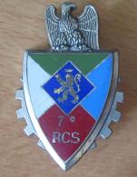 Insigne Militaire - 7e RCS (Régiment De Commandement Et De Soutien) - Delsart G 2567 - Emaillé - Army