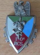 Insigne Militaire - 10e RCS (Régiment De Commandement Et De Soutien) - Delsart G 2580 - Emaillé - Army