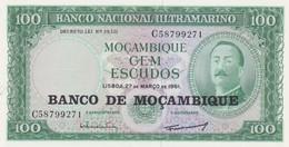 Rox  MOZAMBIQUE 117a - 100 Escudos 27.3.1961 - Mozambico
