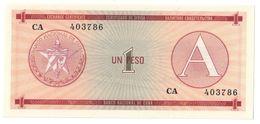 KUBA FX 1 Peso Serie A UNC - Cuba