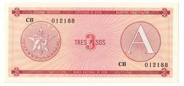 KUBA FX 3 Pesos Serie A UNC - Cuba