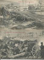 ARMEE BELGE - TOPREEKS - PhoB - YSER 1914 -- TWEE KAARTEN - DE COXYDE SUR BAINS - - Oorlog 1914-18