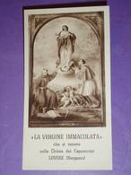 """IMMACOLATA S.FRANCESCO E CARLO BORROMEO Chiesa LOVERE,Bergamo.Cappuccini/1°Sabato""""Tutti In Paradiso""""santino Stab.Pezzini - Santini"""