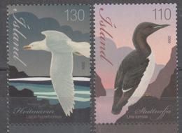 ICELAND- 2009- MARINE BIRDS- 2v MNH Set- Thick-billed Murre & Glaucous Gull - Marine Web-footed Birds