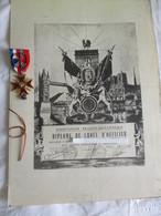 DIPLOME De  Croix D'Oficier -  ASSOCIATION FRANCO-BRITANNIQUE-pour Services Rendus Dans La Résistance - France