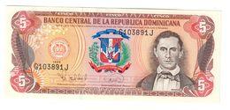 Dominican Republic 5 Pesos 1996 AUNC .C. - Dominicana