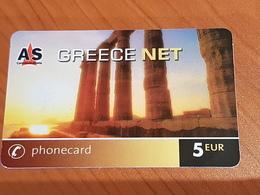 5  Euro - Greece Net - Acropolis  -  Little Printed  -   Used Condition - Deutschland